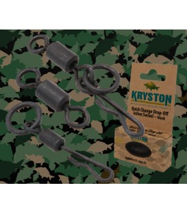 Kryston KR-AC46Micro Hook Ring Swivel black, 10pc