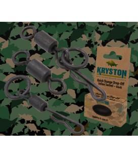 Kryston KR-AC51Carp Swivel #.7 black, 20pc