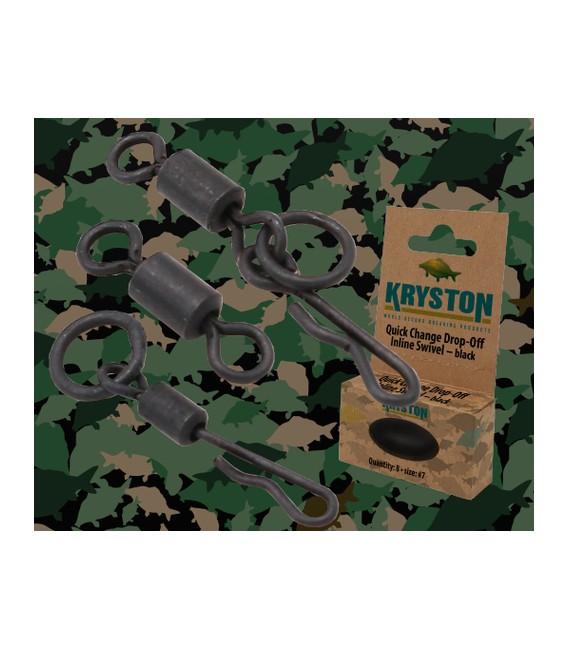 Kryston KR-AC54Quick Change O-Ring Swivel #7 black, 8pc
