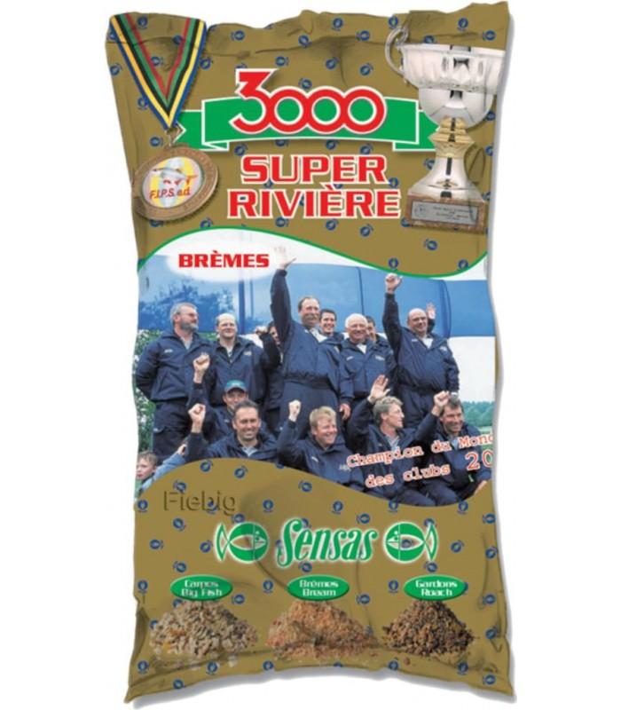 Sensas 3000 Super Feeder Lake Black 1kg Lockfutter