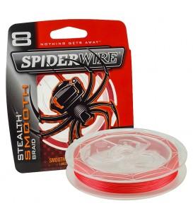 SpiderWire Stealth Smooth Code Red Meterware von Großspule