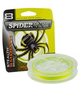 SpiderWire Stealth Smooth  Hi-Vis Yellow  Meterware von Großspule